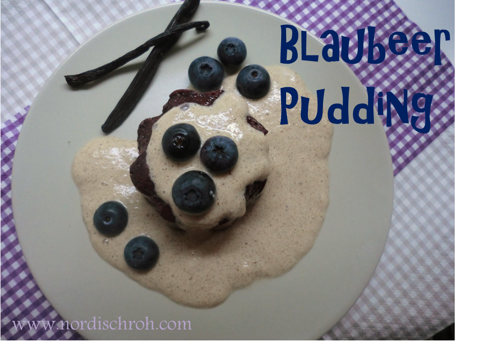 Blaubeer Pudding