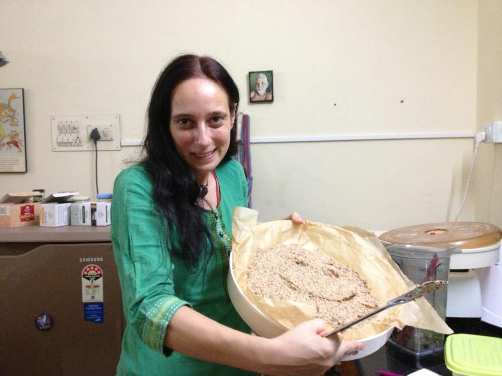 Smiley-Brot aus Kichererbsen