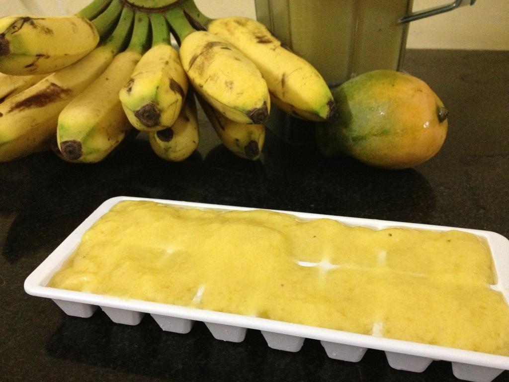 Mango-Bananen-Eis