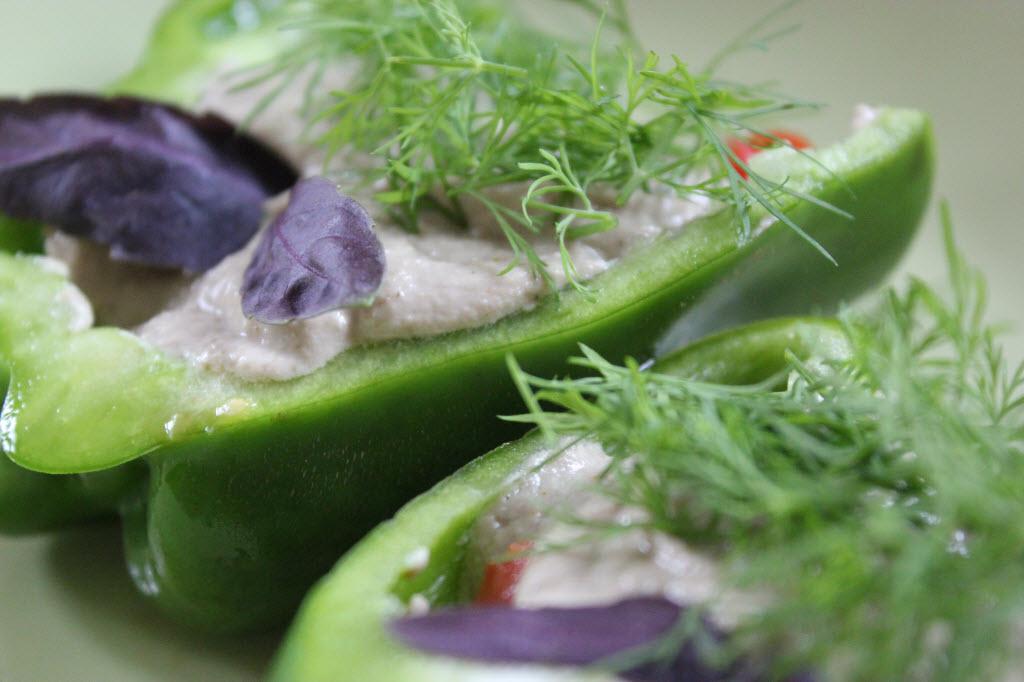 Gefüllte Paprika mit Käsecrème
